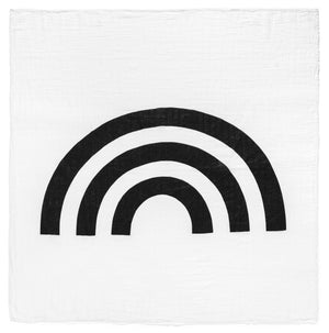 Load image into Gallery viewer, Organic Cotton Organic Cotton Muslin Swaddle + Wall Art -  Rainbow