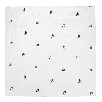 *JUST RESTOCKED* Organic Cotton Organic Cotton Muslin Swaddle -  Music Notes