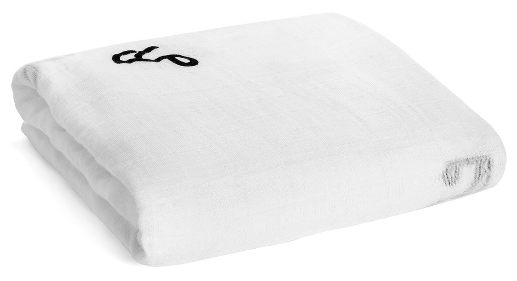 Organic Cotton Muslin Swaddle - Music Notes