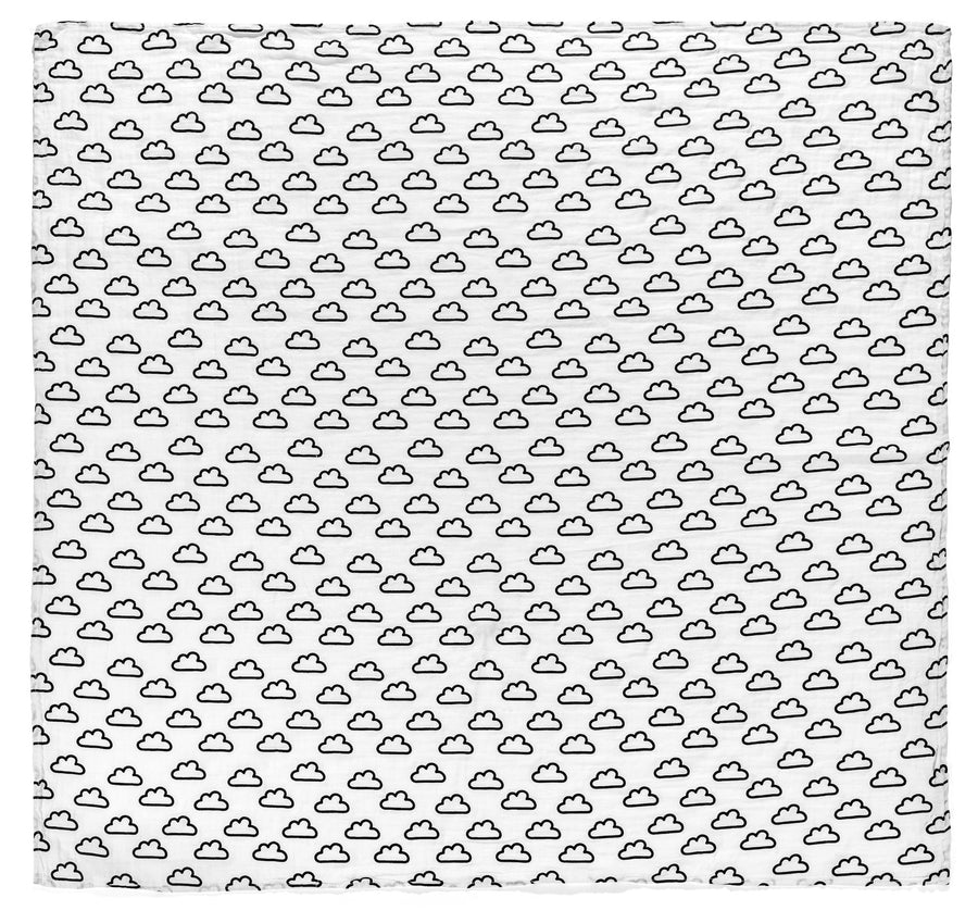 Organic Cotton Organic Cotton Muslin Swaddle -  Clouds