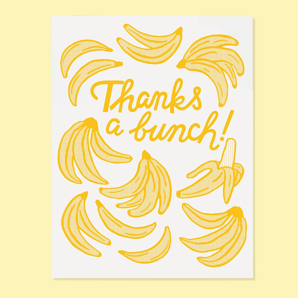 The Good Twin -  Banana Thanks Card
