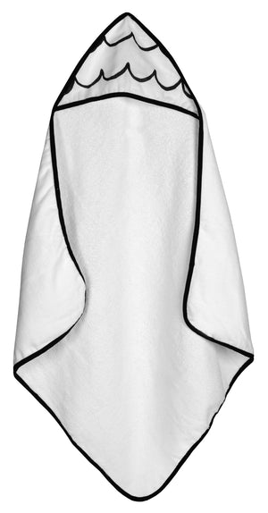 Load image into Gallery viewer, Organic Cotton Muslin + Terry Hooded Towel -  Waves