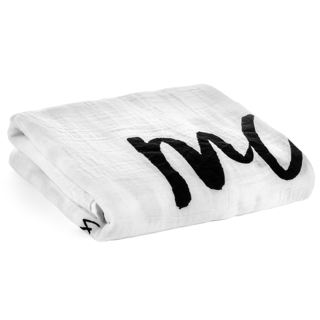 Organic Cotton Muslin Swaddle Blanket -  March 2018*