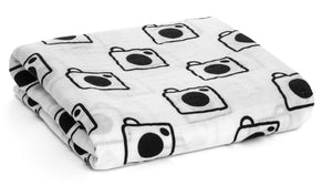 Load image into Gallery viewer, Organic Cotton Organic Cotton Muslin Swaddle -  Camera