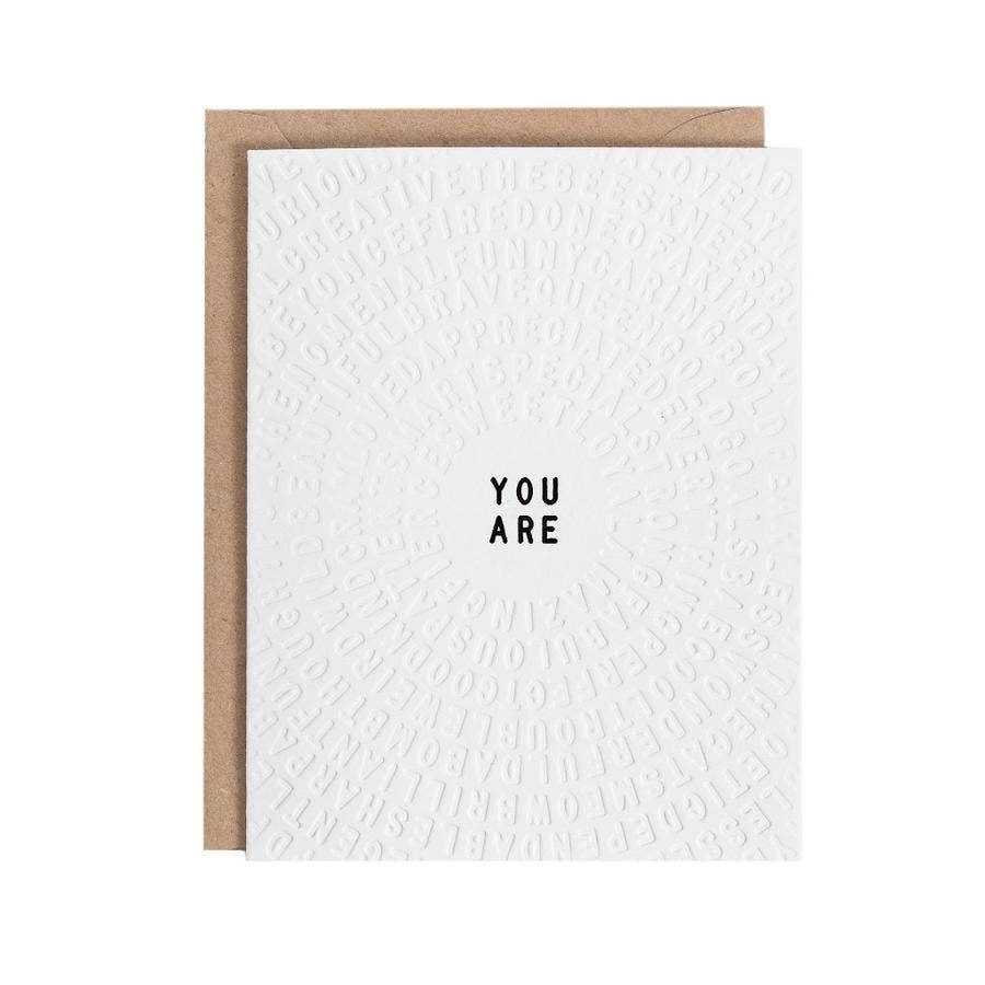 Letterfolk - You Are Color-in Greeting Card (Set of 3)