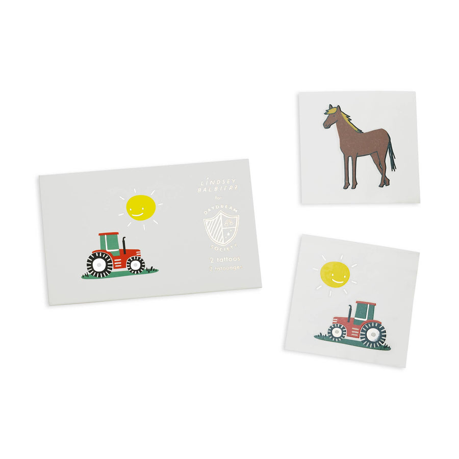Daydream Society - On the Farm Temporary Tattoos (Pack of 2)