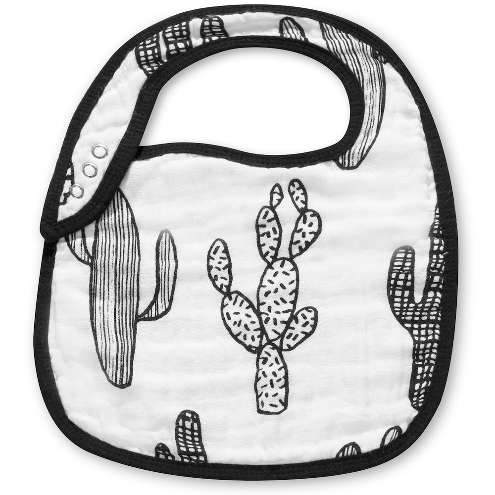 Load image into Gallery viewer, Organic cotton muslin bib -  Cactus ©