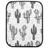 4 Layer  Organic Cotton Muslin Burp Cloth - REVERSIBLE Cactus © + Arrows ©