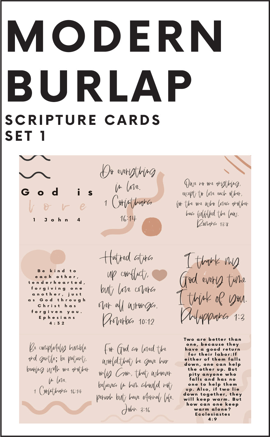 2020 DIY Printables | Scripture Cards Set #1