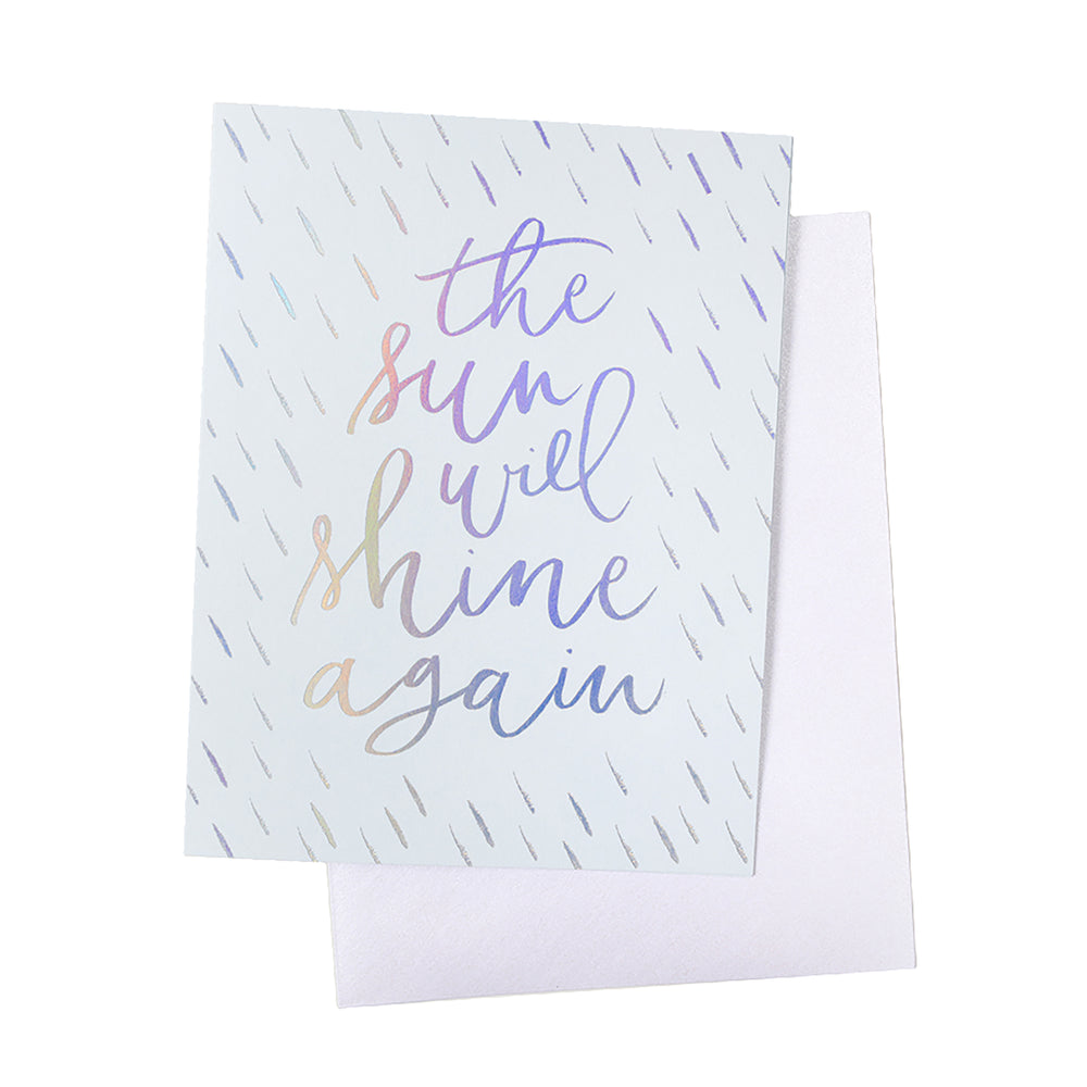 Knot & Bow -  The Sun Will Shine Again Foil Card