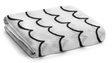 Organic Cotton Organic Cotton Muslin Swaddle Blanket -  Waves