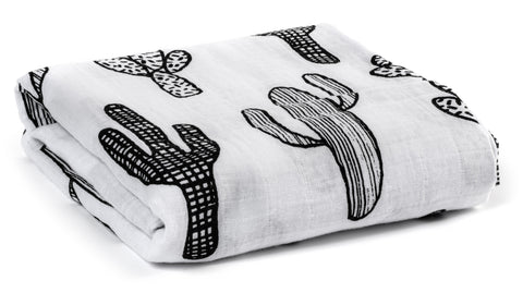 Organic Cotton Muslin Swaddle Blanket -  God knew my heart needed you