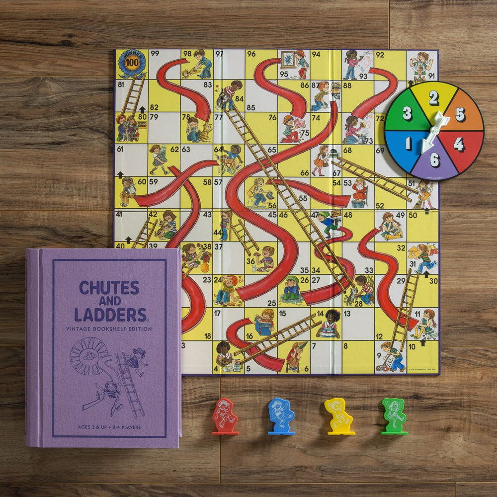 CHUTES AND LADDERS VINTAGE BOOKSHELF EDITION