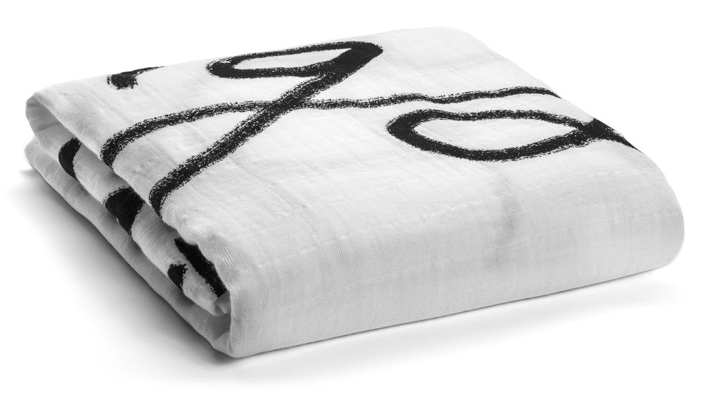 Organic Cotton Muslin Swaddle Blanket -  LOVE THE GREATEST OF ALL THINGS