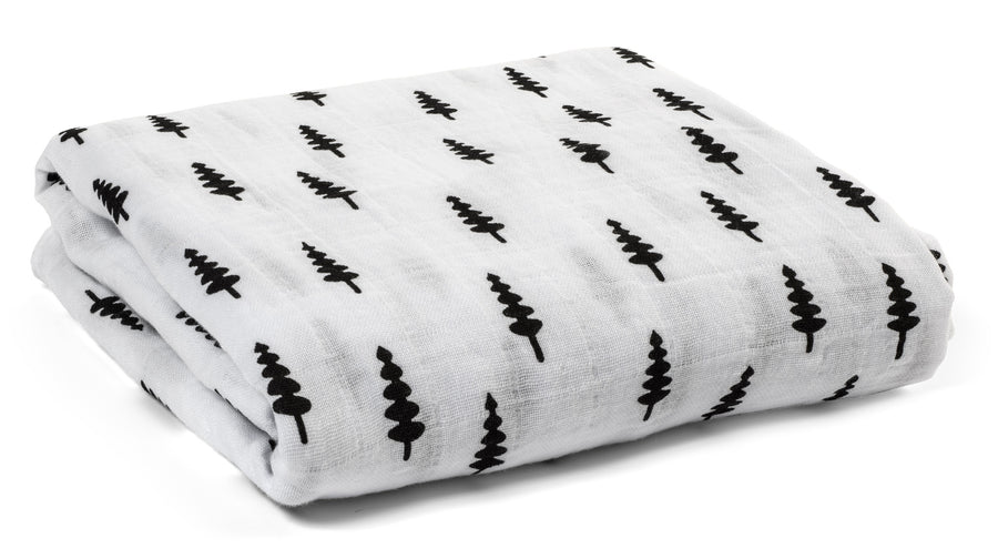 Organic Cotton Organic Cotton Muslin Swaddle Blanket -  TREES