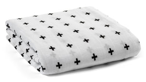 Load image into Gallery viewer, Organic Cotton Organic Cotton Muslin Swaddle Blanket -  SWISS CROSS