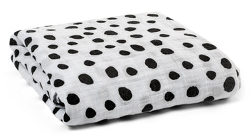 *JUST RESTOCKED* Organic Cotton Muslin Swaddle Blanket + Wall Art -  Spots ©