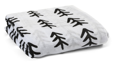 Organic Cotton Muslin Swaddle Blanket -  Jesus loves me this I know for the Bible tells me so