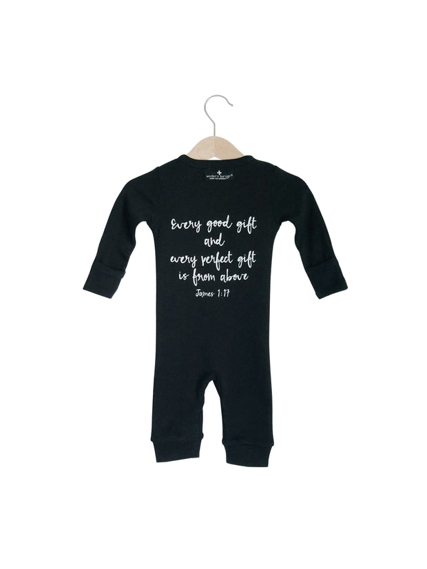 Organic Button Coverall -  James 1:17 1