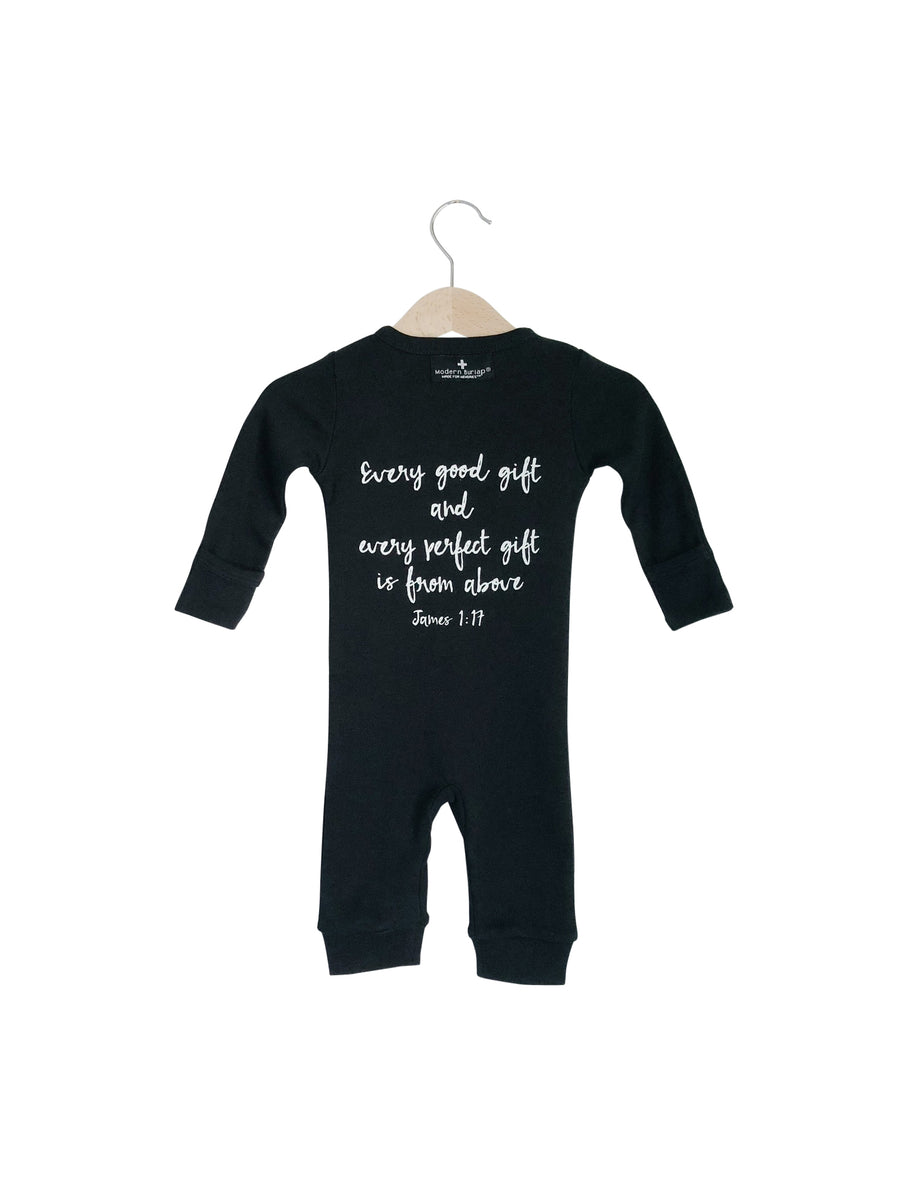 Organic Button Coverall -  James 1:17