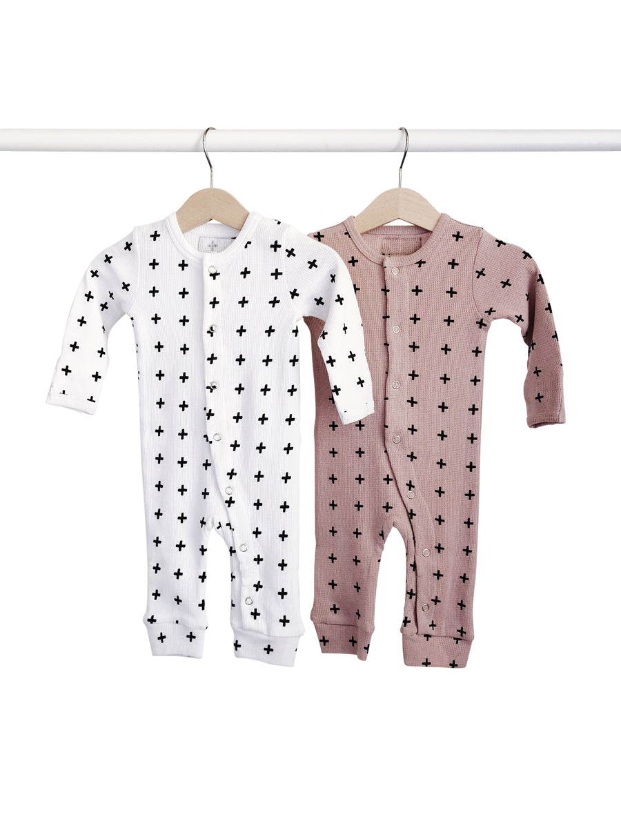 Organic Button Thermal Coverall -  Prints (2 Options)