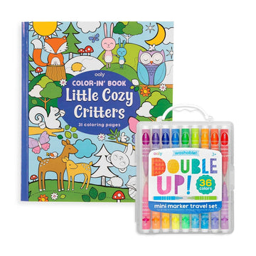 OOLY - Double Up & Cozy Critters Coloring Pack