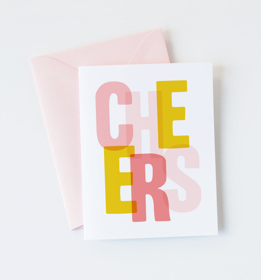 Graphic Anthology -  Cheers Greeting Card