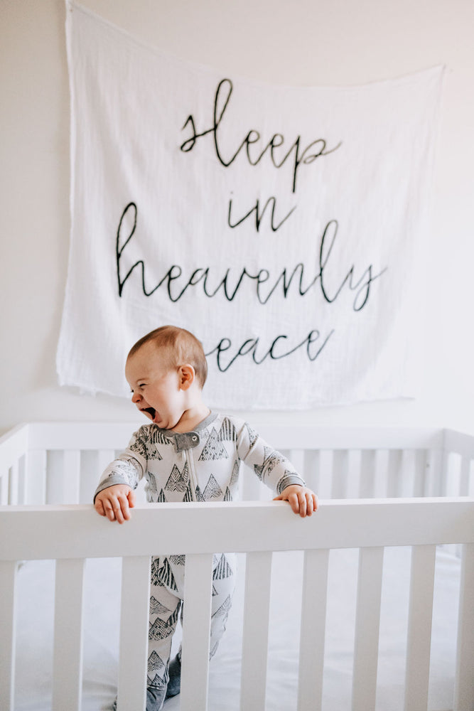 Load image into Gallery viewer, Organic Cotton Muslin Swaddle Blanket + Wall Art -  Sleep in heavenly peace