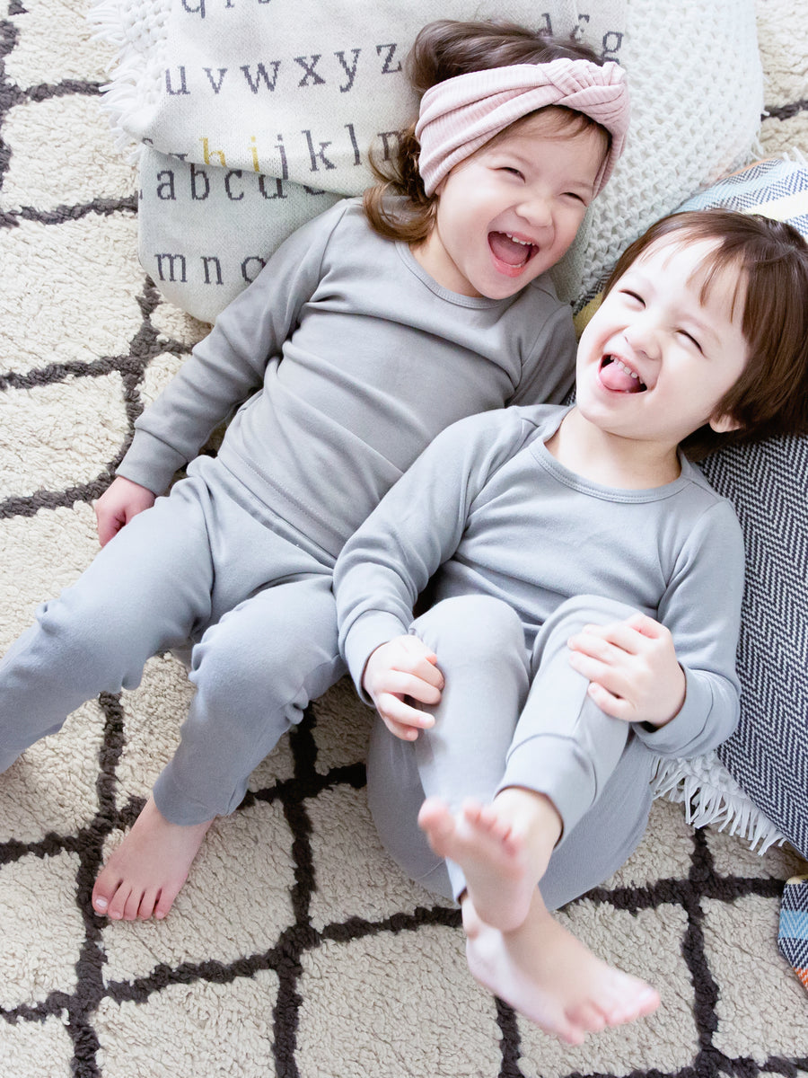 Organic Pajama Set -  NEUTRAL GRAY