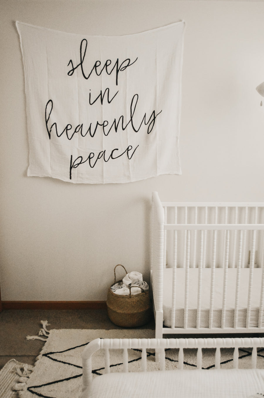Organic Cotton Muslin Swaddle Blanket + Wall Art -  Sleep in heavenly peace
