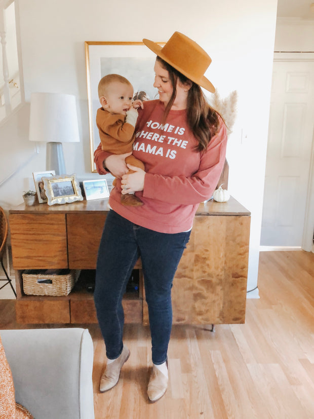 Home is where the mama is Adult Sweatshirt 1