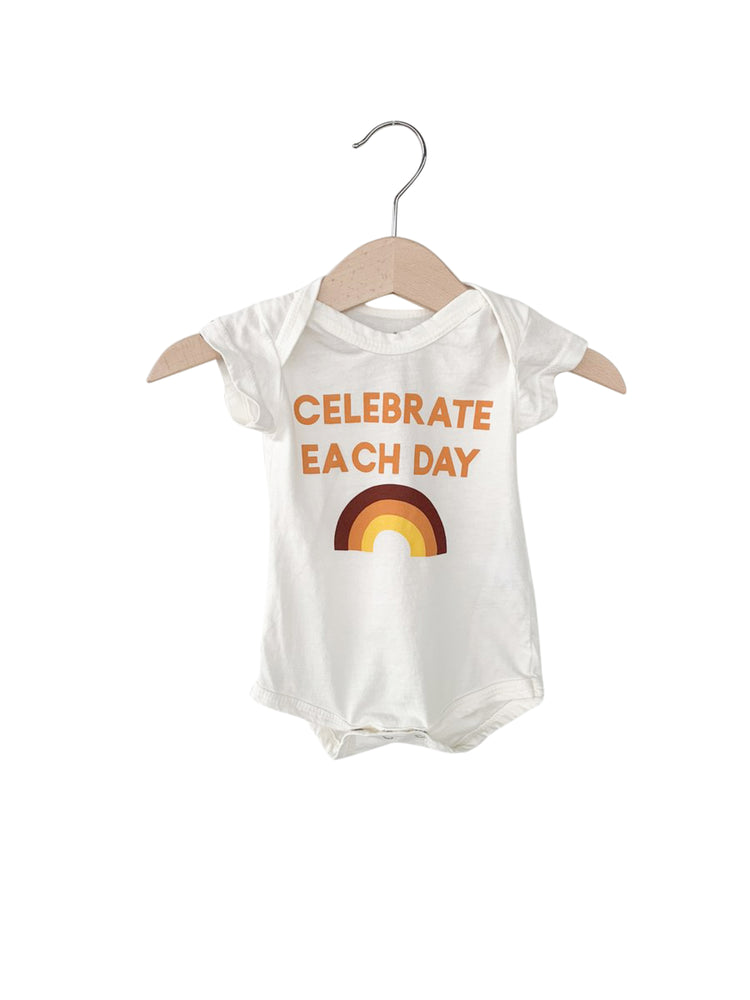 Load image into Gallery viewer, Celebrate each day Short Sleeve Bodysuit