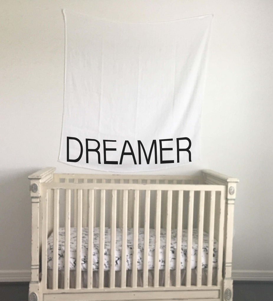 Organic Cotton Muslin Swaddle Blanket - DREAMER