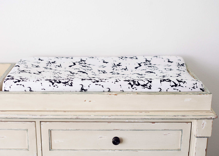 *JUST RESTOCKED* Changing Pad Cover -  Marble