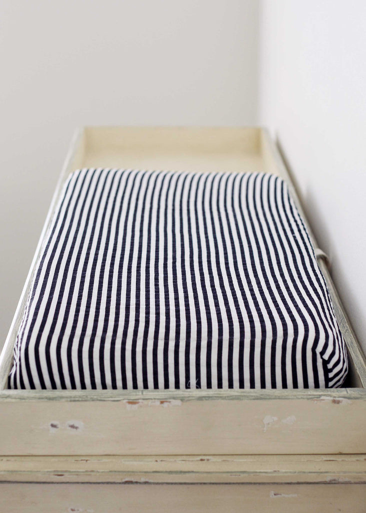 Organic changing pad cover - Stripe