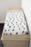 Organic changing pad cover - Arrows