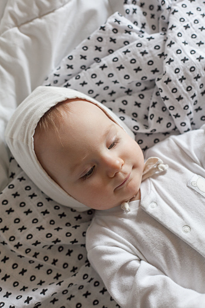 Organic Cotton Muslin Swaddle Blanket - XO