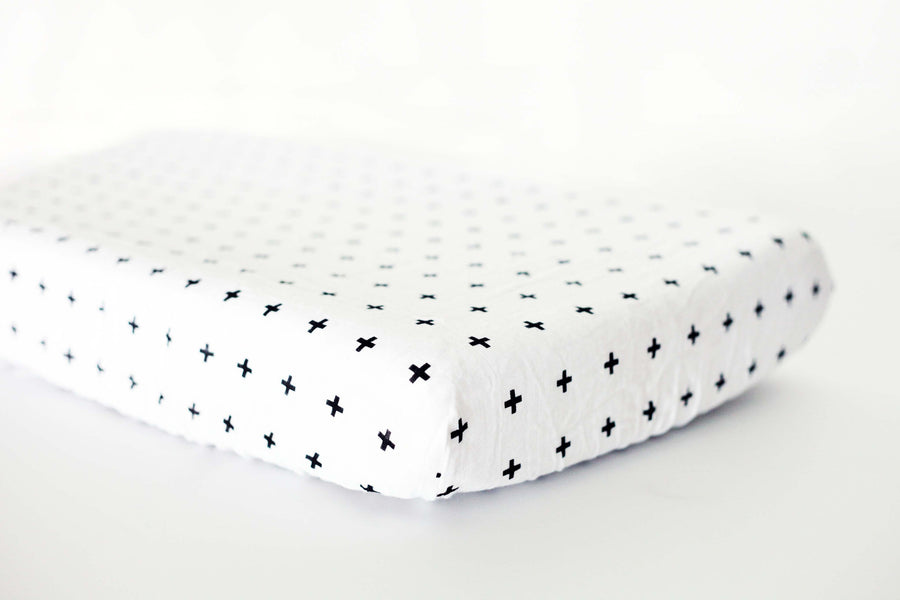 *JUST RESTOCKED* Changing Pad Cover -  Swiss Cross