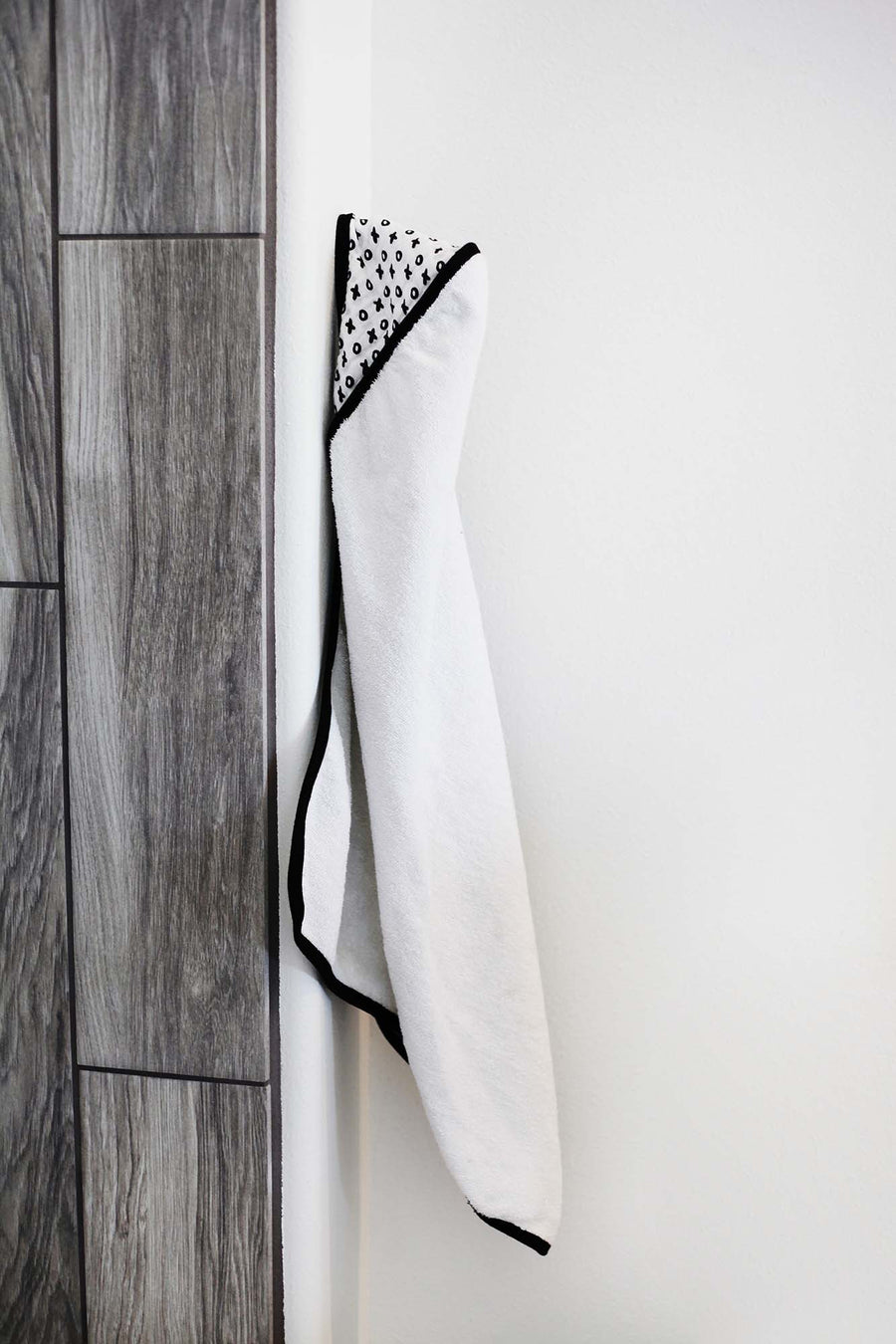 Organic Cotton Muslin + Terry Hooded Towel - XO