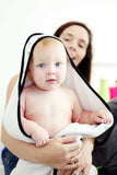Muslin + Terry Hooded Towel - Swiss Cross