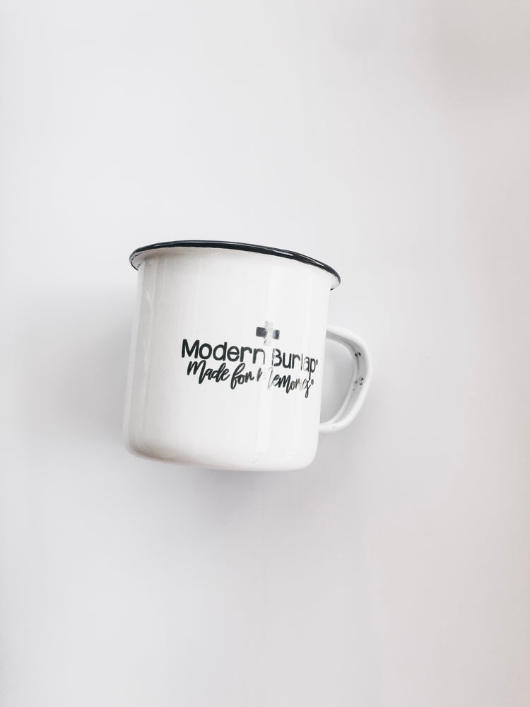 Load image into Gallery viewer, Modern Burlap Made for Memories Mug