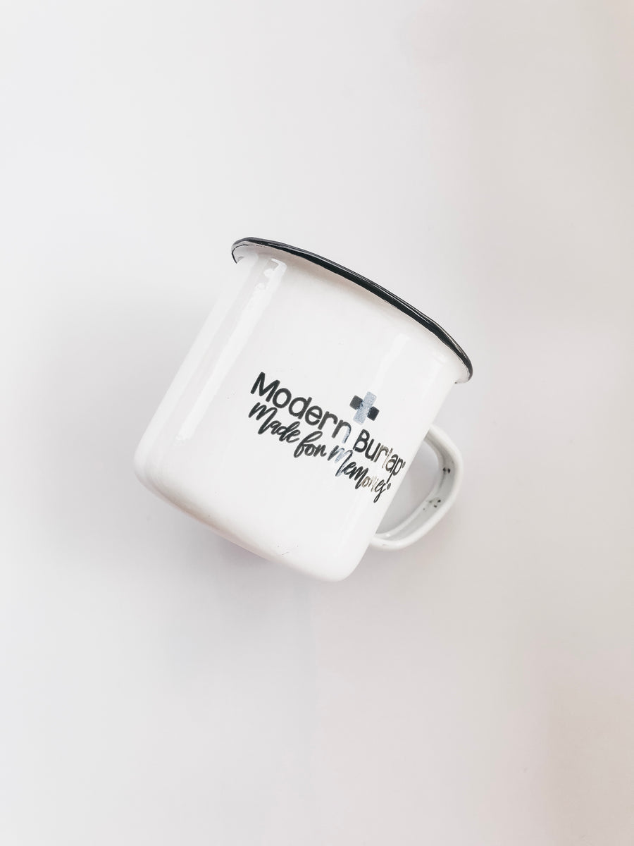 Modern Burlap Made for Memories Mug