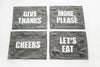 Graphite Linen Placemats - several phrases to choose from