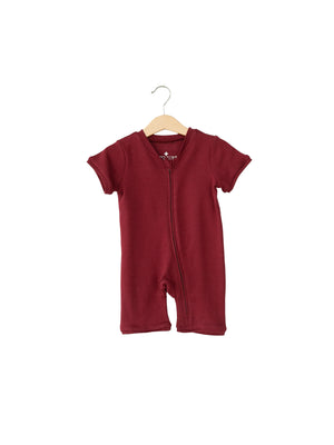 Load image into Gallery viewer, Organic Short Sleeve Zip Romper -  Colors