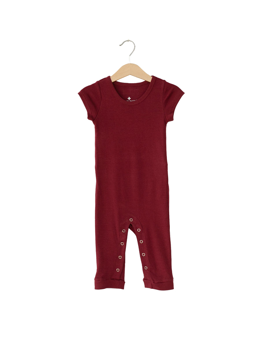 Organic Short Sleeve Jumpsuit with Explorer Back -  Colors