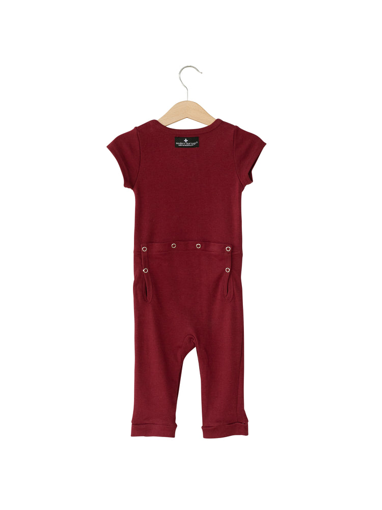 Load image into Gallery viewer, Organic Short Sleeve Jumpsuit with Explorer Back -  Colors