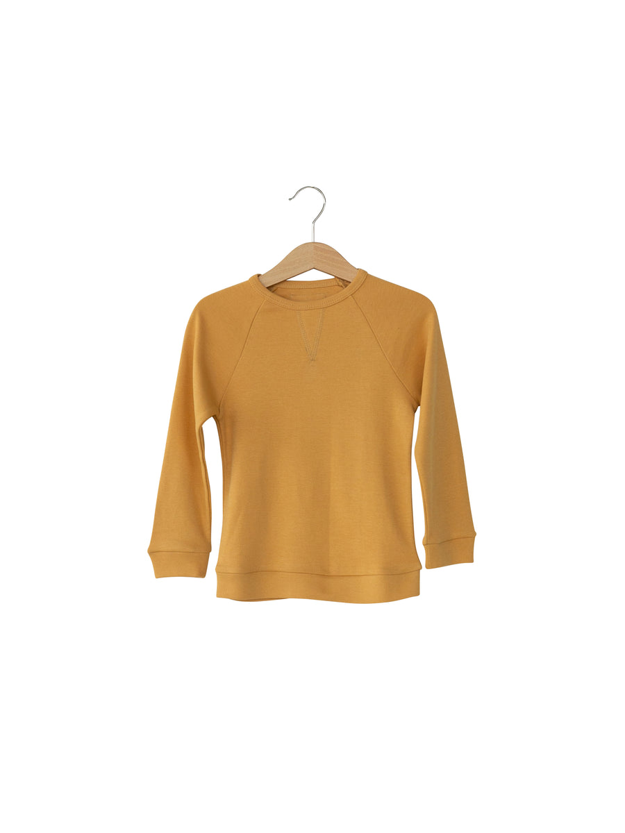 Baby + Child Organic Lightweight Crew Sweatshirt -  HONEY