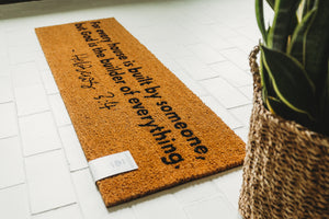 Load image into Gallery viewer, XL Scripture Doormat | Hebrews 3:4