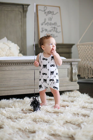 Load image into Gallery viewer, Organic Tank Romper -  Prints