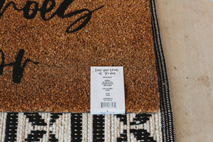 Load image into Gallery viewer, XL Doormat | Leave your shoes at the door